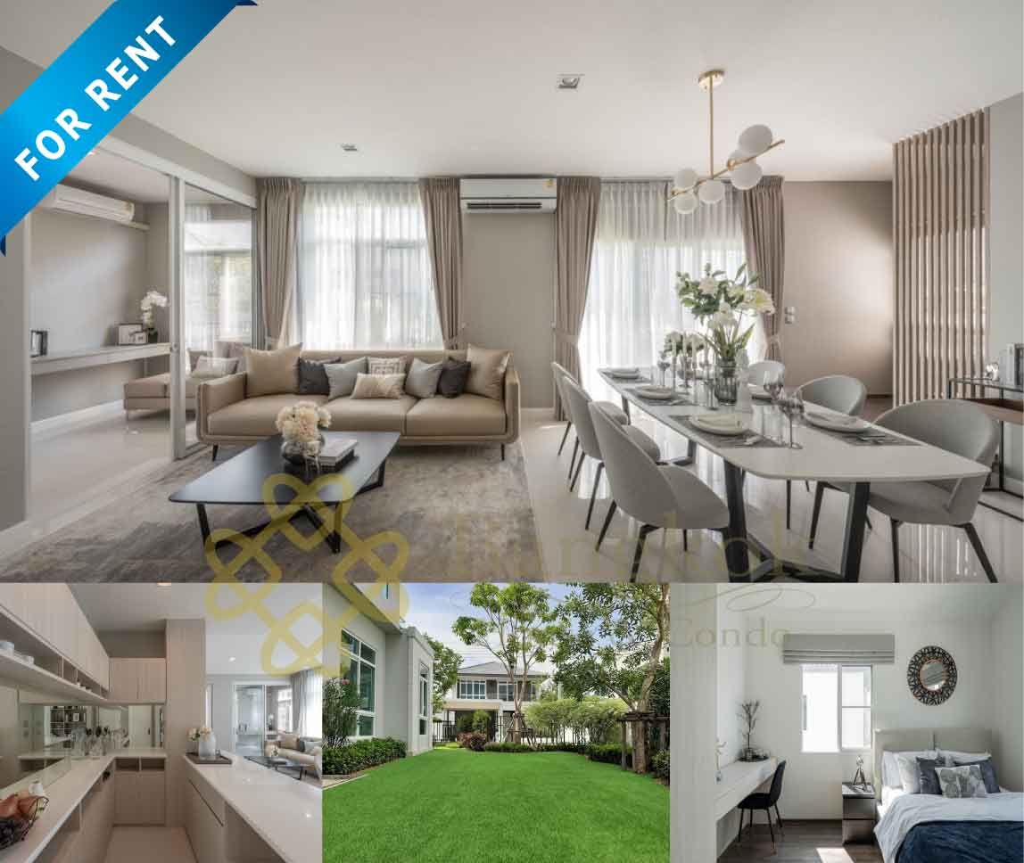 Bangkok Property Condo Apartment House Real Estate For Rent in Bangna Modern & Luxury House