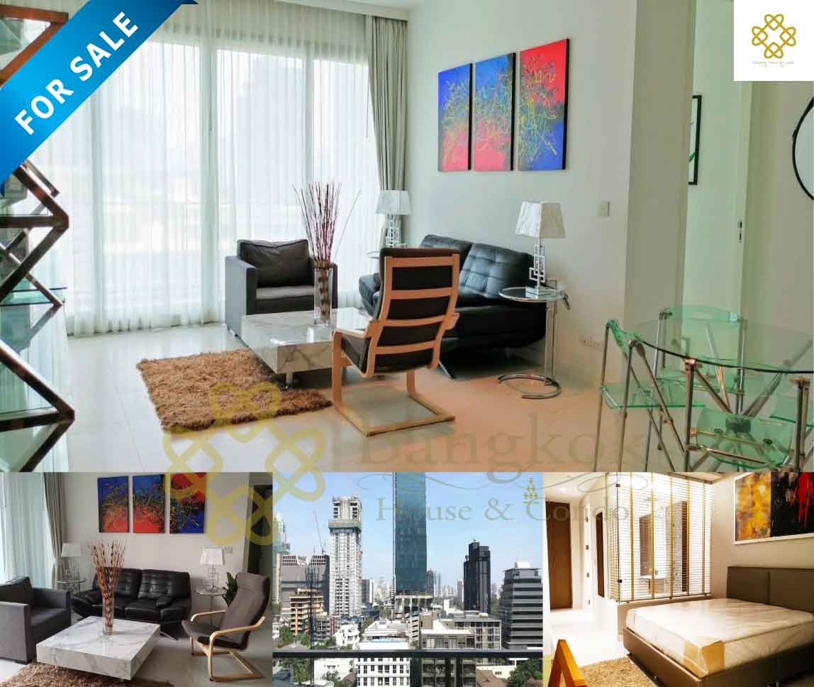 Bangkok Property Condo Apartment House Real Estate For Sale in Ratchadamri Lively & Light