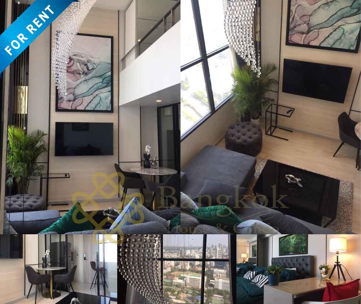 Bangkok Condo Apartment For Rent in Sathorn Chong Nonsi Hight Floor Duplex Condo in Sathorn