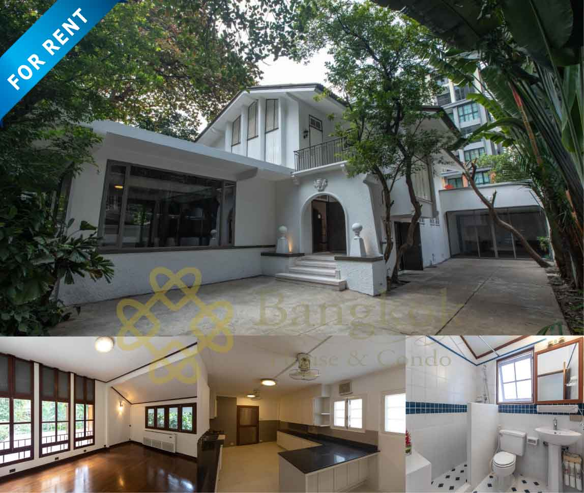 Bangkok House Sukhumvit For Rent Detached House in Ploenchit